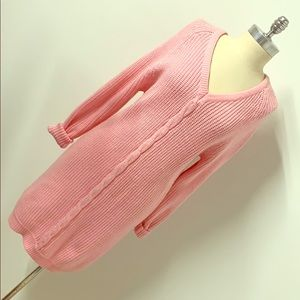 Vintage baby pink sweater dress tunic